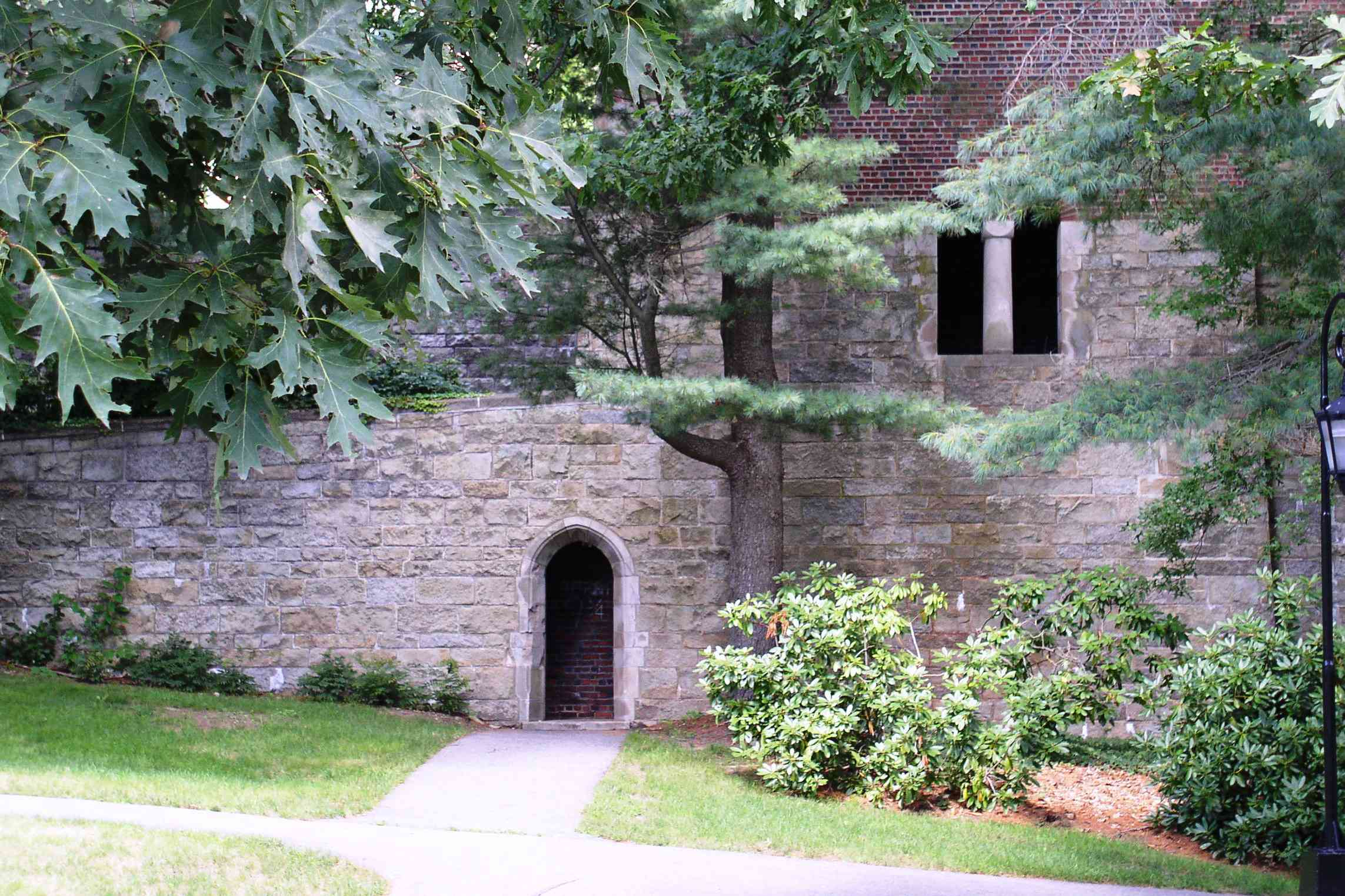 A Gothic Doorway Under Green Hall
