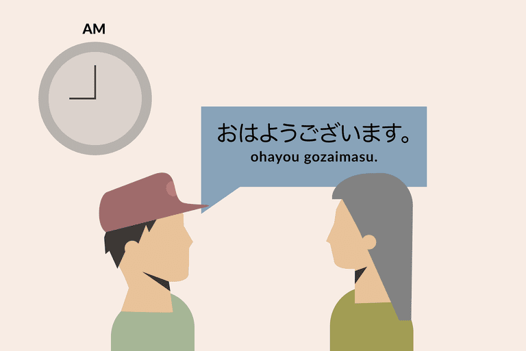 Saying good morning in Japanese