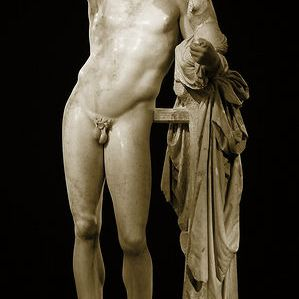 Praxiteles' Statue of Hermes holding the infant Dionysus