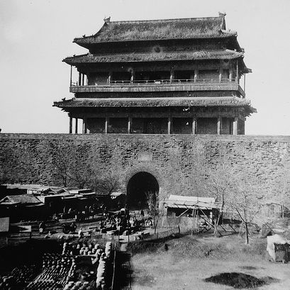 During the Boxer Rebellion, fighting took place in the heart of Peking (Beijing) China.