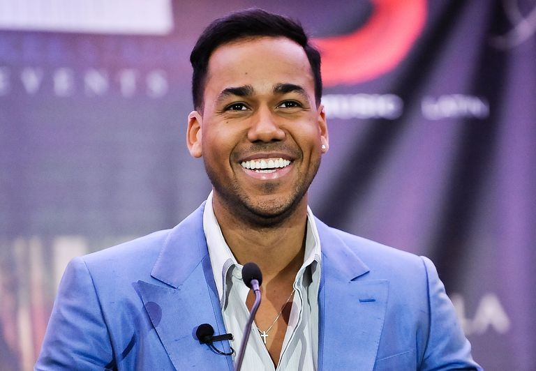Singer Romeo Santos attends Romeo Santos' 'Formula, Vol 2' Album Release Press Conference at Yankee Stadium on February 24, 2014 in New York City.