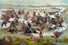 Print of Custer's Last Stand