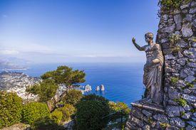 Statue of Tiberius on Capri island, Italy