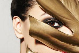 Female model in mask