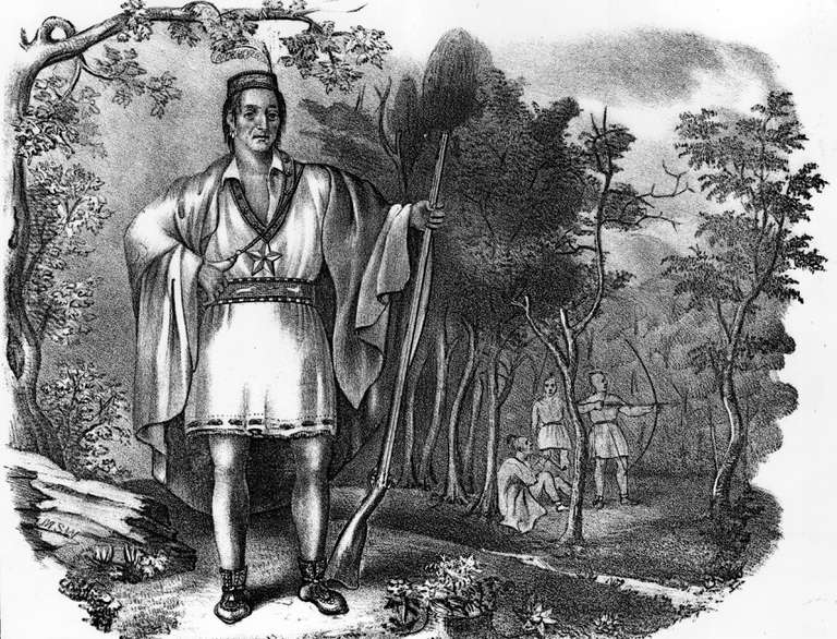 Portrait of American Indian Metacomet