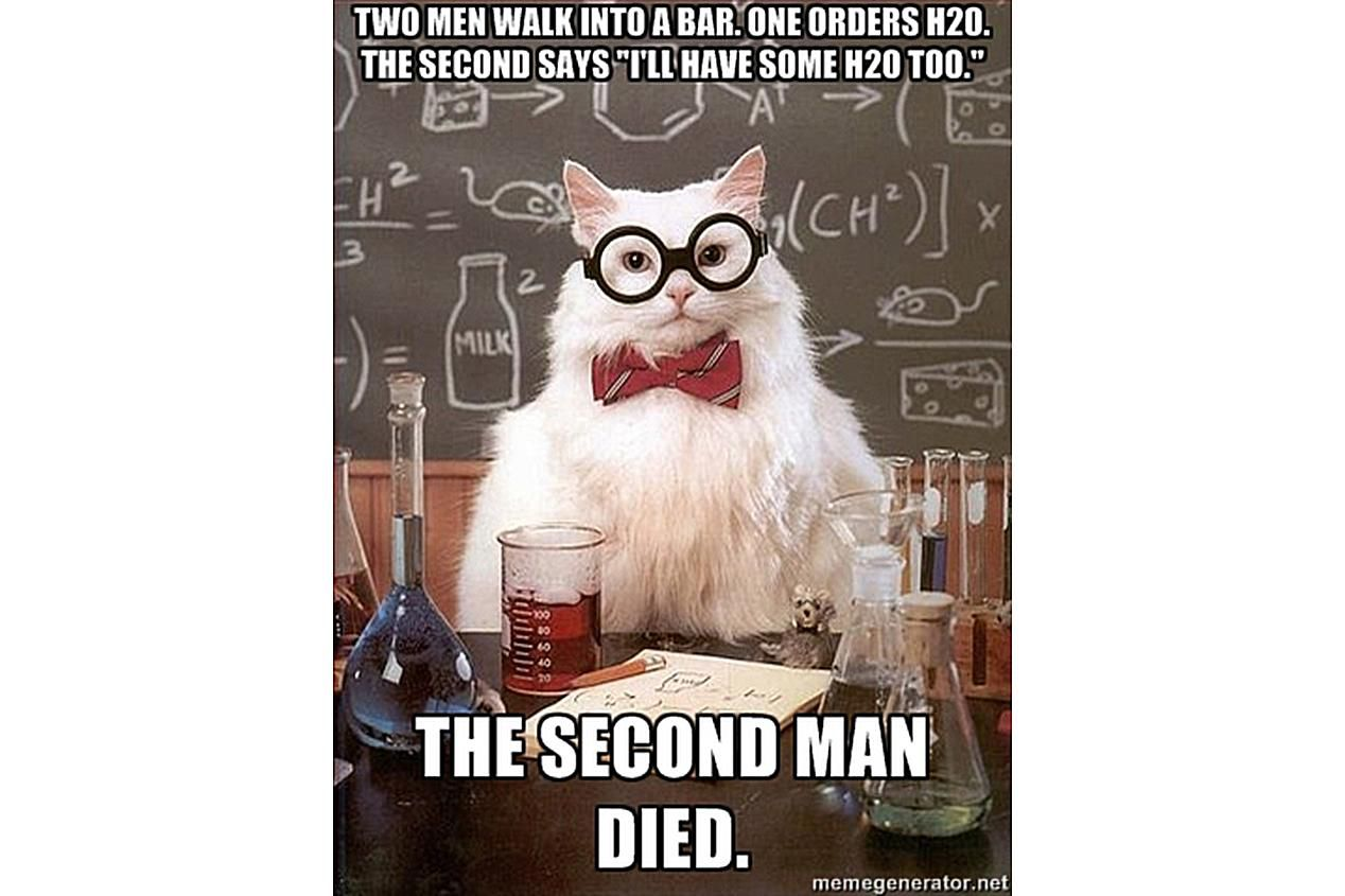 Chemistry Cat explains the fate of those that drink hydrogen peroxide.