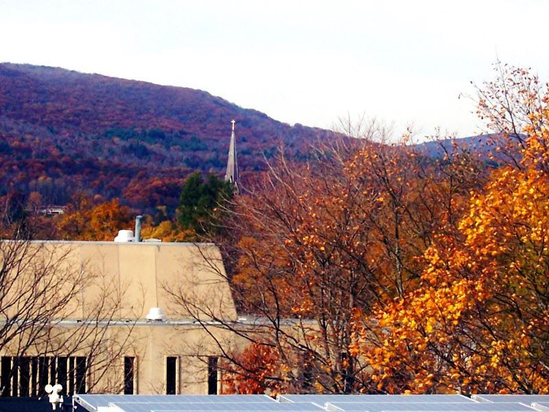 Fall Foliage at the Massachusetts College of Liberal Arts